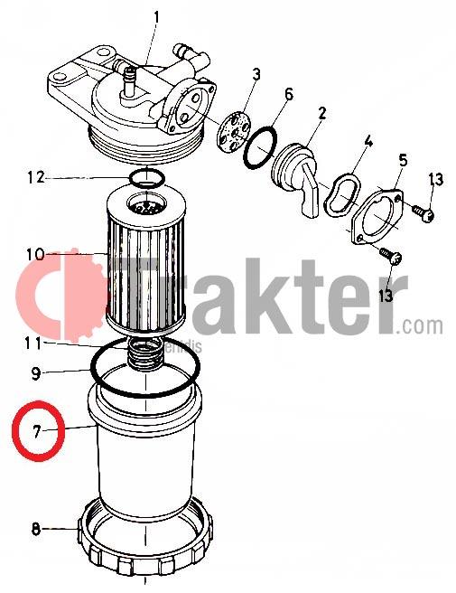 Fuel Filter Pot Original Kubota