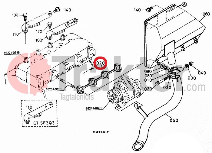 Kubota Tractor Exhaust
