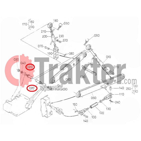 Trakter com - PIN ARM LIFT HYDRAULIC ORIGINAL KUBOTA