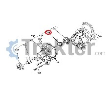 WASSERPUMPE DICHTUNG ORIGINAL KUBOTA 16241-73050 16241-73052