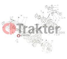 BREMSWELLE RECHTS ORIGINAL KUBOTA 66611-15120