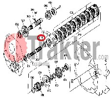 CLUTCH CASE HYDRAULIC MOVE BEARING ORIGINAL KUBOTA 34070-15390
