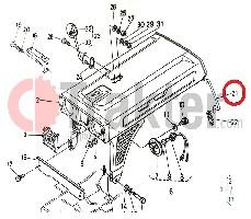 GANCIO COFANO ORIGINAL KUBOTA 66751-55210