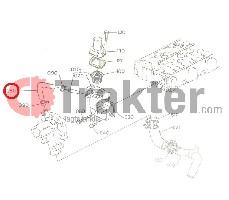 TEMPERATURREGLER SCHLAUCH ORIGINAL KUBOTA 16241-73350