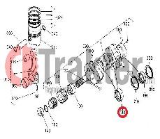 PERNO DI BIELLA ALBERO MOTORE METALLICO ORIGINAL KUBOTA 16241-23480 16292-23483