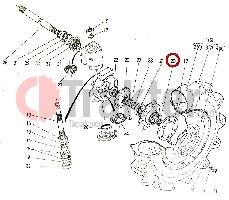 RUEDA DE EJE DIFERENCIAL KUBOTA ORIGINAL 37650-43610 h3760-43610