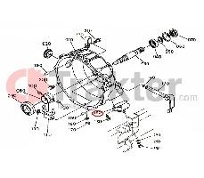 PARTE POSTERIOR PARA CUERPO DE MOTOR DEL COJINETE KUBOTA ORIGINAL 37410-51220