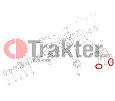 KURBELWELLENLAGERSCHALEN UNTEN ORIGINAL KUBOTA 15261-23540 15261-23544