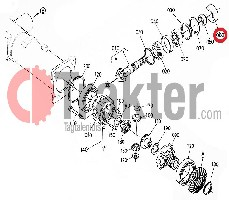 WELLENDICHTRING KEGELRAD DIFFERENTIAL VORN ORIGINAL KUBOTA 34070-12220