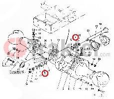 KÖNIGSZAPFEN BUCHSE DIFFERENTIAL VORN ORIGINAL KUBOTA 66591-56120